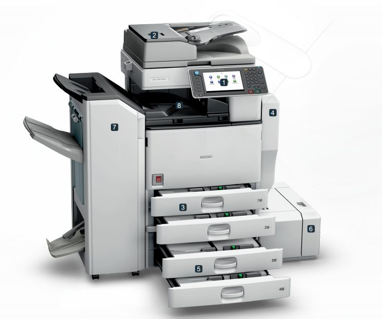 Những bộ phận máy Photocopy Ricoh MP5002