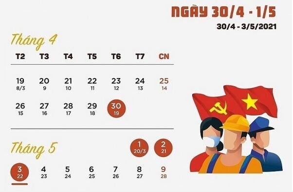 Thông báo nghỉ lễ 30/4 - 1/5